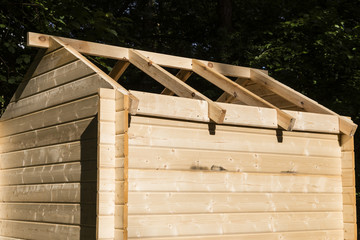 Bau eines Gartenschuppen, Construction of a wooden hut
