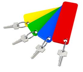 Schlüssel Farben