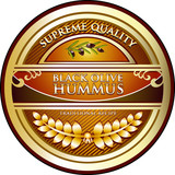 Black Olive Hummus Vintage Label