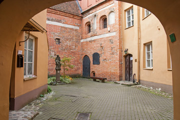 The yard of the old city.