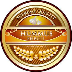 Hummus Beiruti Vintage Label