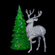 Christmas decoration with fir-tree branch and deer