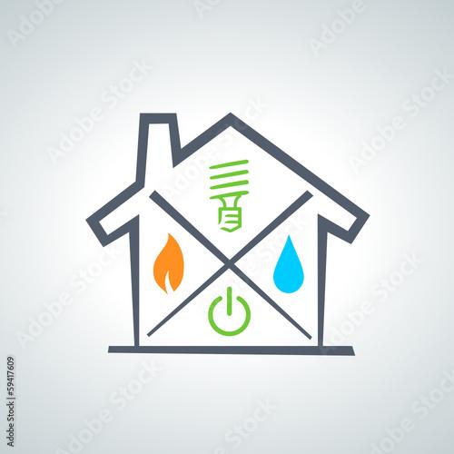 logo gaz eau lectricit 2013 12 01 fichier vectoriel libre de droits sur la banque d. Black Bedroom Furniture Sets. Home Design Ideas