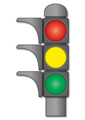 Verkehrsampel Phasen: rot gelb grün