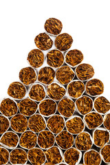 cigarettes triangle heap