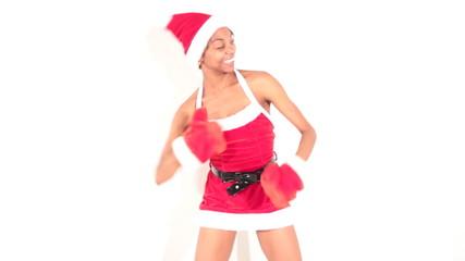 girl in santa dancer
