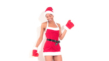girl in santa dancer