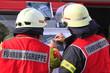canvas print picture - Feuerwehrteam