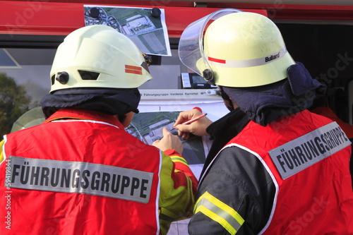 canvas print picture Feuerwehrteam