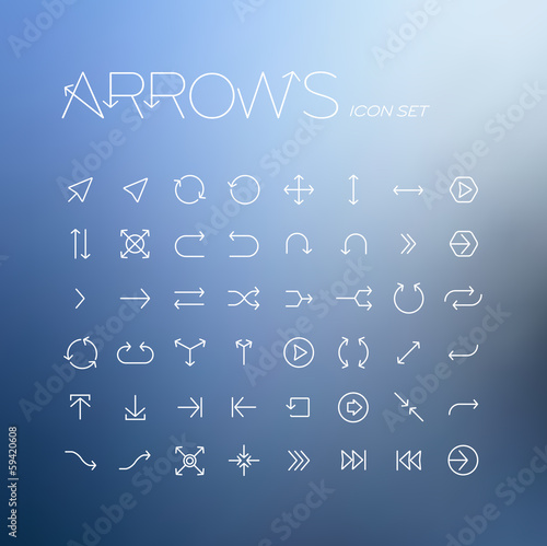 Vector arrows icon set