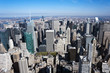 Aerial view of Manhattan New York City