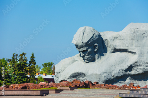 War monument to the brave, Brest fortress, Belarus