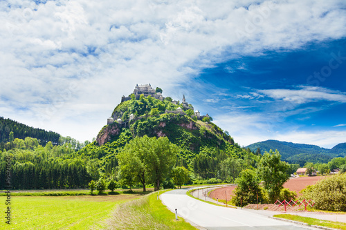 Road to Hochosterwitz castle in Austria