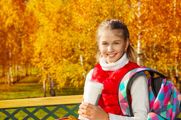 Coffee in the park after school