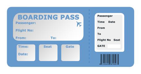 Aircraft boarding pass