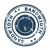 Bandwidth concept stamp poster