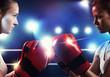 Two boxer women