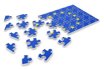 Europe puzzle flag