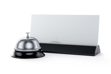 Reception bell with card