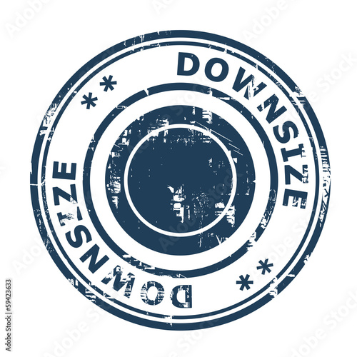 Downsize concept stamp