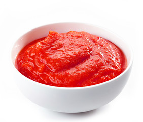 Fresh, organic pureed tomatoes