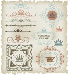 vector set: calligraphic design elements for your design