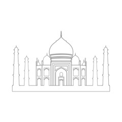 Taj Mahal palace vector