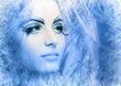 snow-queen face close up