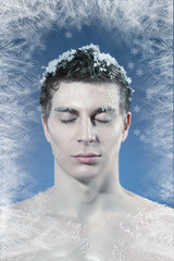 young frozen man