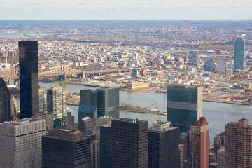 Manhattan Aerial towards Queens in Fall 2010