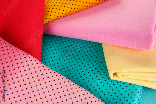 Cloth fabrics close up