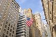 Obrazy na płótnie, fototapety, zdjęcia, fotoobrazy drukowane : American flag at Wall Street,New York