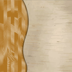 Vector wood textured background with curve