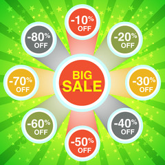 Big Sale Green Poster