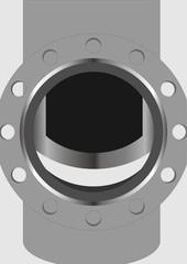 Semi-open valves.