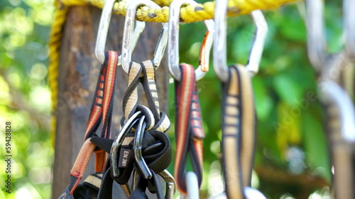 A dolly shot of Mountain Climbing Carabiner.