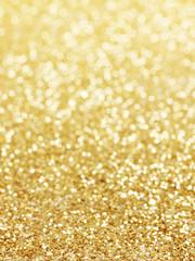 golden background of defocused abstract lights