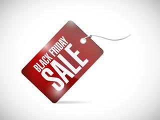 black friday sale tag illustration design