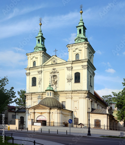 Krakow, Poland. Catholic church building