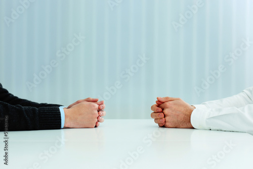 Two businessmen having a discussion