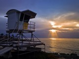 Lifeguard Station at Sunset La Jolla San Diego California USA