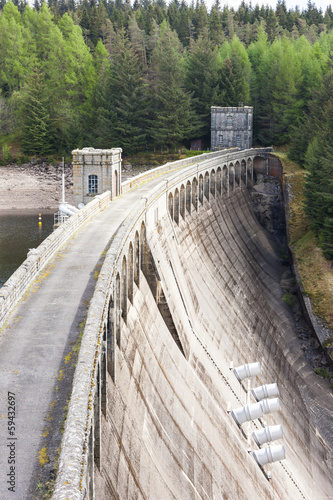 canvas print picture Loch Laggan dam, Highlands, Scotland