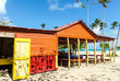 Leinwanddruck Bild - Strandgrill in der Karibik