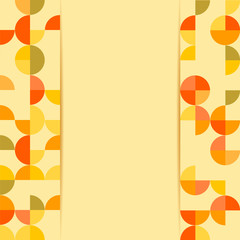 abstract background .pattern with colored circles on a yellow ba