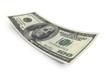 Hundred dollar banknote isolated on white background