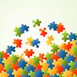 Puzzleteile Hintergrund bunt