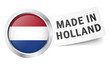 "Button mit Fahne "" MADE IN HOLLAND """