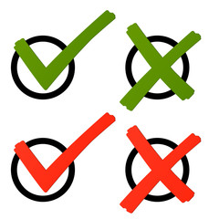 Wahl - Kreuz und Haken grün/rot