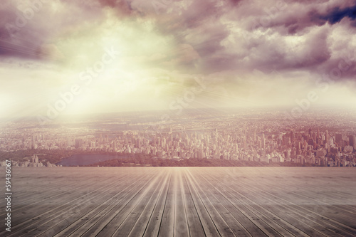 Balcony overlooking city stock photo and royalty free for Balcony overlooking city