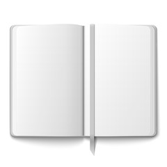 Blank copybook template with bookmark.
